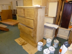 2 over 3 jumper chest being waxed.