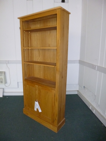 Oak Bookcase with doors