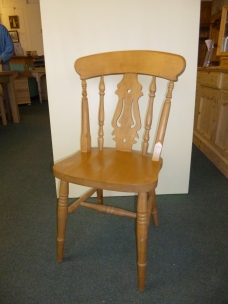£71 Beech Farmhouse Fiddleback - wideseat