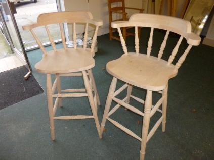 Beech Spindleback bar stools