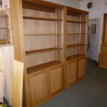 Solid Oak bookcase to size