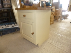 Edwardian door.Typical kitchen base unit with kick in.