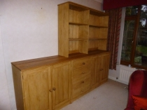 Shaker Unit, Knotless Pine With Oak Tops
