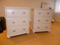 Matching Jumper Chests Shaker style with bun feet. Customers own handles
