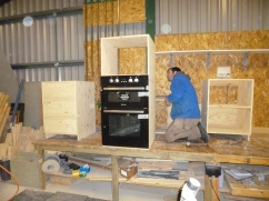 Kitchen Units. Customer supplies oven
