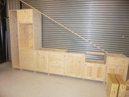Kitchen units in build
