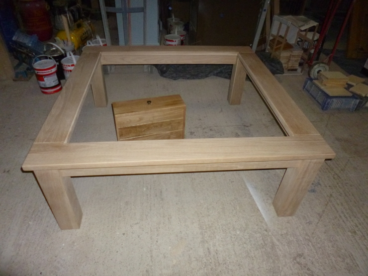 Large Glass Top Coffee Table
