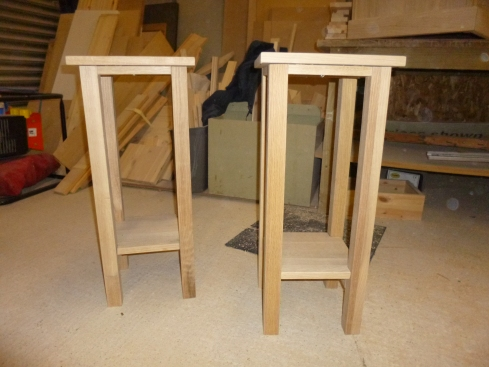 Oak side tables in build