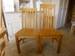 Oak Harrington chairs: £97 high back and £92 low back