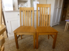 Oak Harrington chairs: £97 high back and £92 low back