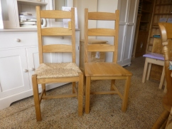 Oak Provence. Solid or rush seat.
