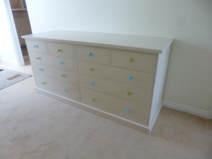 10 Drawer Chest. Customers own glass knobs