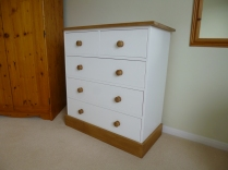 Shaker chest. Painted body. Solid Oak trim.