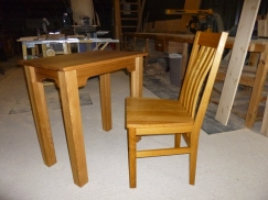 Table and Chair.Table made to fit chair