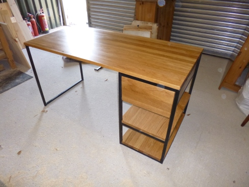 Desk. Customer supplied frame.